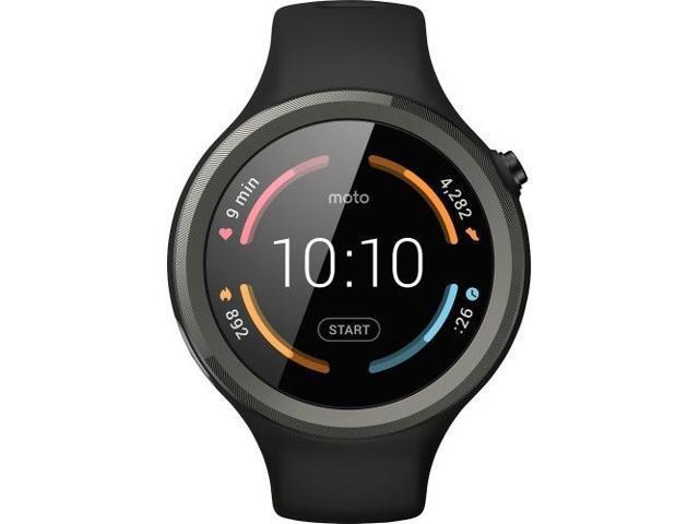 Motorola - Moto 360 Sport Smartwatch 45mm Silicone - Black Model: 00906NARTL...