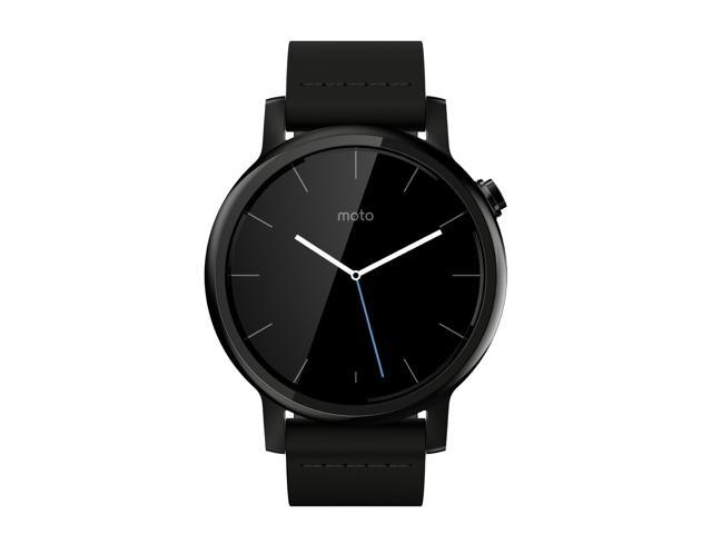 moto 2nd gen watch. Motorola 00816NARTL Moto 360 2nd Gen. Mens 42mm Smartwatch, Black With Leather Smart Gen Watch A
