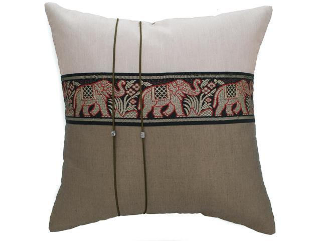 Avarada Striped Elephant Throw Pillow Cover Decorative  : A8Y8120150818110995459 from www.newegg.com size 640 x 480 jpeg 26kB