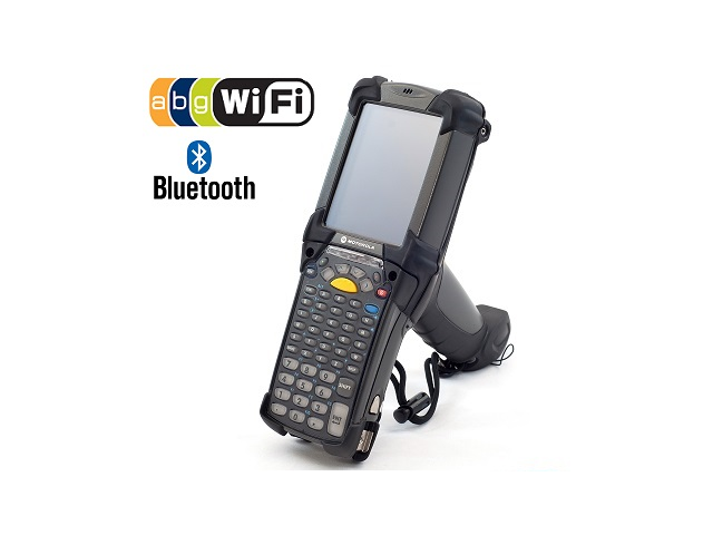 Motorola MC9090 Barcode Scanner (part# MC9090-GF0HJEFA6WR ): Wifi, Bluetooth, 1D Barcode Scanner, Windows Mobile 5.0 OS, Full 53-Key Keyboard