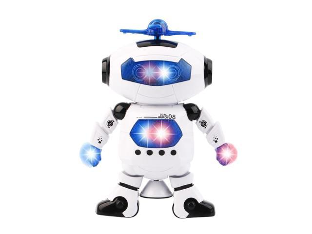 Electric Smart Space Walking Dancing Robot Children Music Light Toys Robots
