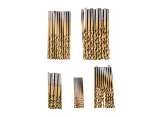 New 50pc Metal Drill Bit Set HSS Metric Twist Drills 1mm-3mm Drill Bits