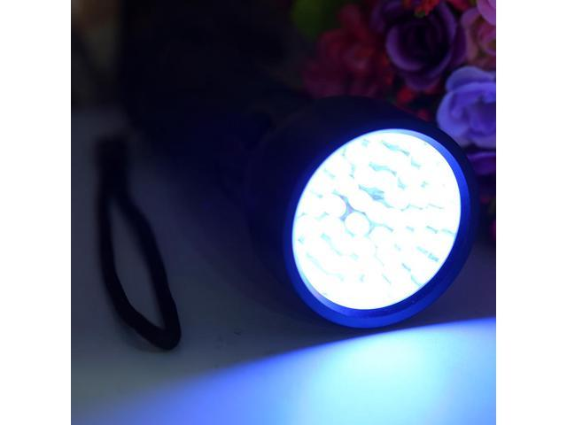 Aluminium 51 LED UV Flashlight Torch Ultra Violet Outdoor Light Torch Lamp