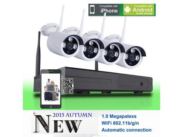 SW 4CH WIFI NVR Wireless Security Camera System with 4 Wireless IP ...