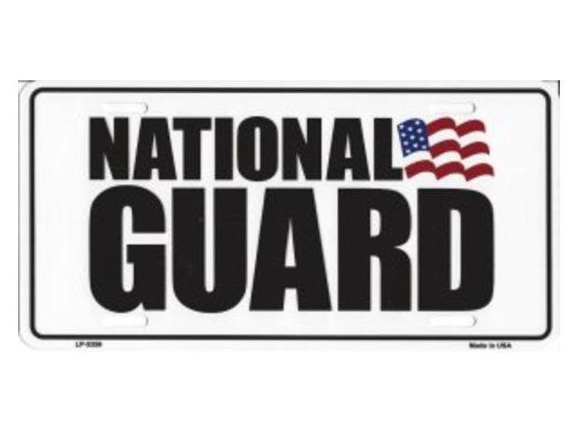 National Guard Metal License Plate