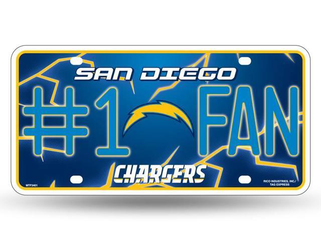 San Diego Chargers Official Nfl License Plate By Rico