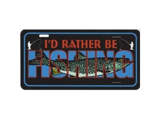 I 39 d rather be fishing photo license plate for Florida temporary fishing license