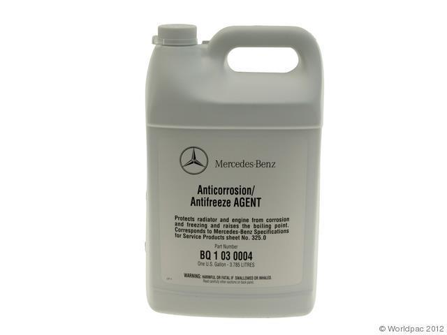 2014 2014 mercedes benz cla250 engine coolant antifreeze for Mercedes benz coolant