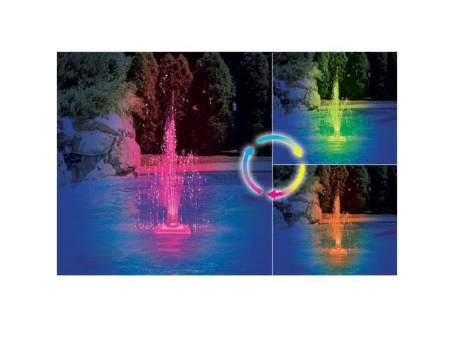 Color Changing LED Lit Triple Tier Pool Fountain