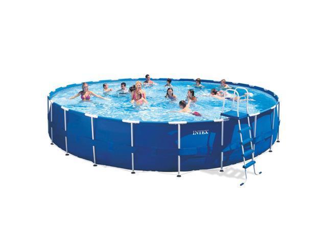 24 foot x 52 inch intex metal frame round swimming pool kit. Black Bedroom Furniture Sets. Home Design Ideas