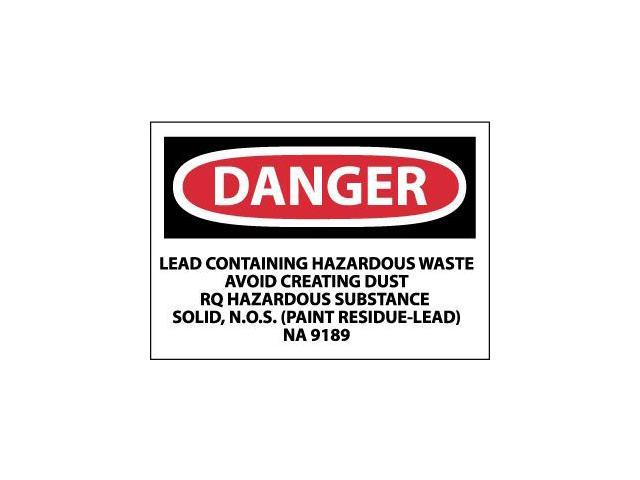 Nmc prd75 labels danger lead containg hazardous waste for What are the dangers of lead paint