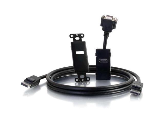 C2G 29449 DisplayPort to VGA Active Adapter Wall Plate - Black
