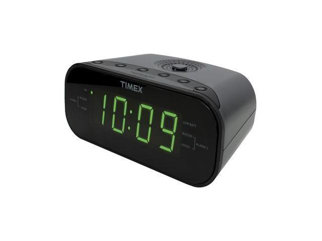 timex t231gy2 am fm dual alarm clock radio with digital tuning gunmetal gray. Black Bedroom Furniture Sets. Home Design Ideas