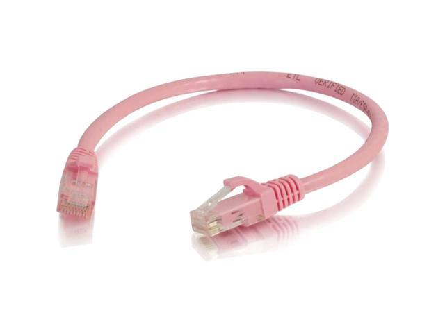 Cables to Go 6-Inch Cat6 Snagless Unshielded Network Patch Cable, Pink (960)