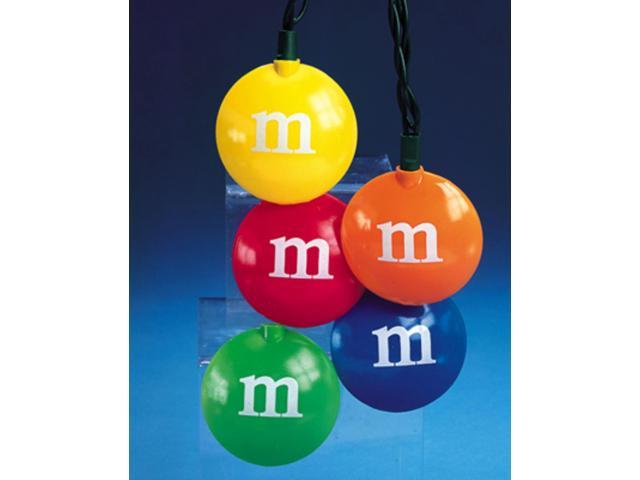 Set Of 10 Multi-Colored M&M's Christmas Lights