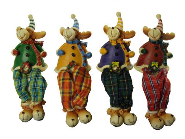 Club Pack of 144 Plaid Shelf Sitting Reindeer Christmas Figures 5