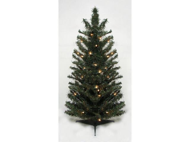 2.5' Pre-Lit Canadian Pine Artificial Christmas Tree - Clear Lights