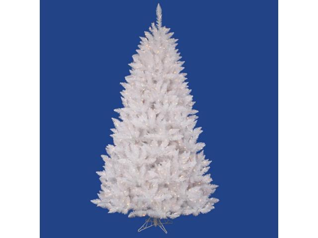 6.5' Pre-Lit White Sparkle Spruce Artificial Christmas Tree - Clear Lights