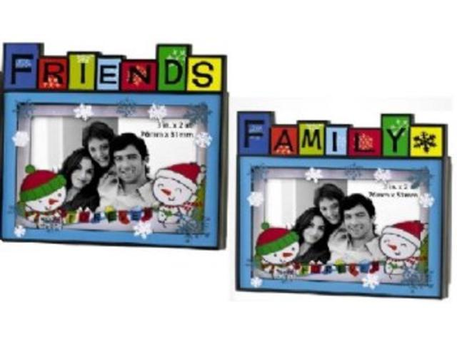 Carlton Cards Heirloom Family or Friends Photo Frame Message Christmas Ornament