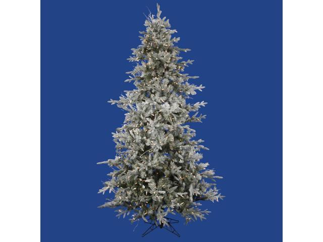 6.5' Pre-Lit Frosted Wistler Fir Artificial Christmas Tree - Clear Dura Lights