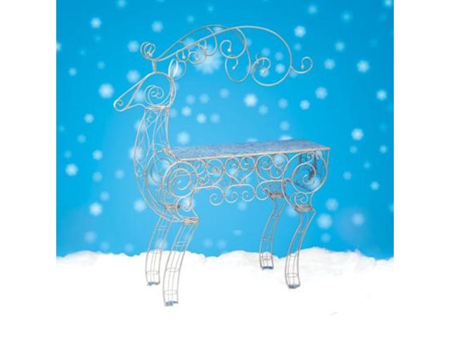 6.75' Commercial Sized Reindeer Figure Decorative Christmas Display Table