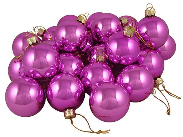 Club Pack of 48 Shiny Pink Lolipop Glass Ball Christmas Ornaments 2