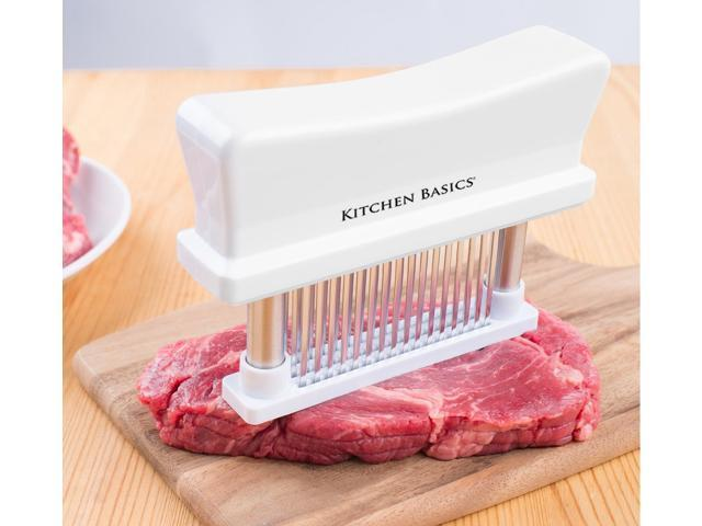 Kitchen Basics 48 Blade Meat Tenderizer Tool, Sharp Stainless ...