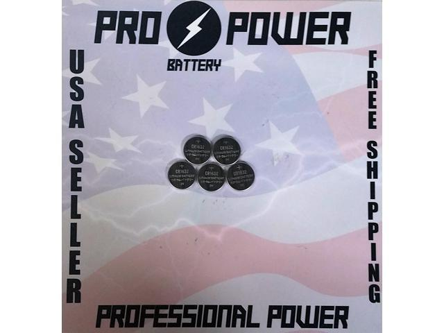 (5) Pro Power replacement for Sony CR1632 3V Lithium Coin Batteries