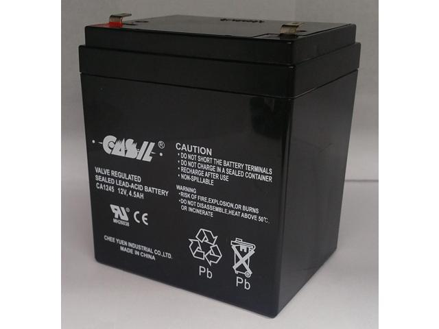 CASIL 12v 4.5ah  Security Alarm Battery Replaces 4Ah ADI Ademco 467