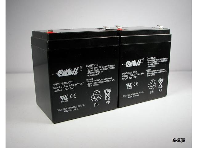 (2) CASIL 12v 4.5ah  Replacement Battery for Liftmaster 3850 and