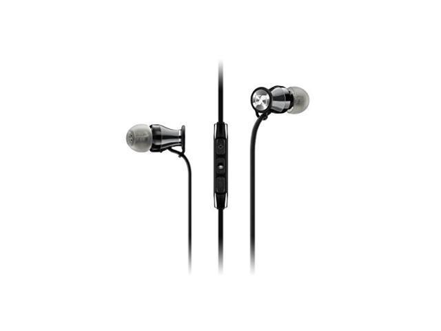 SENNHEISER MOMENTUM M2IEI Black-Chrome In-Ear Headphones iDevice/remote/mic Black Chrome