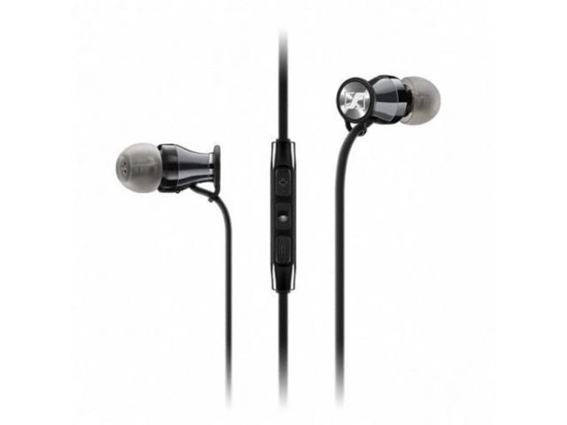SENNHEISER MOMENTUM M2IEG Black-Chrome In-Ear Headphones for Galaxy/remote/mic