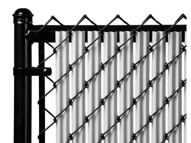 Chain Link Gray Single Wall Ridged Privacy Slat For 8ft