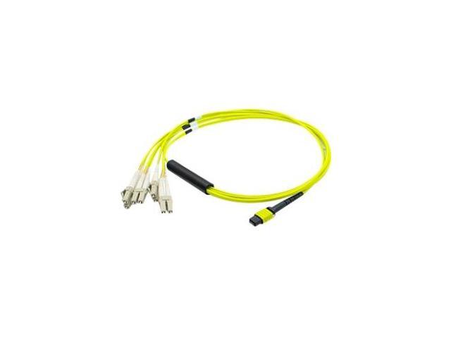 AddOn MTP-4LC-S1M-AO 3.28 ft. MPO to 4xLC Duplex Fanout SMF Yellow Patch Cable For Juniper F-M