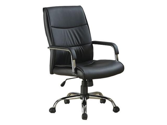 Monarch Specialties I 4290 Leather-Look Office Chair - Black