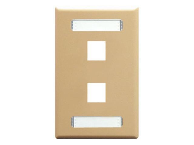 FACEPLATE- ID- 1-GANG- 2-PORT- IVORY