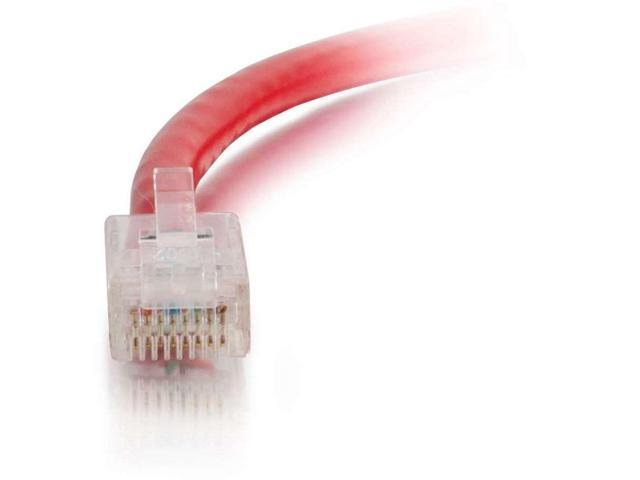 C2G 7 ft Cat6 Non Booted UTP Unshielded Network Patch Cable - Red