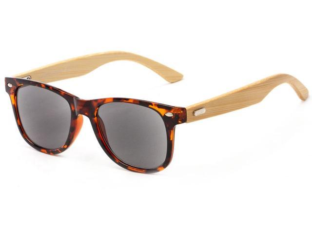 Readers.com The Rowan Recycled Bamboo Sun Reader +1.00 Tortoise with Smoke