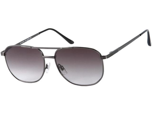 Readers.com The Pismo Beach Sun Reader +1.00 Grey with Smoke  Unisex Aviator Reading Sunglasses