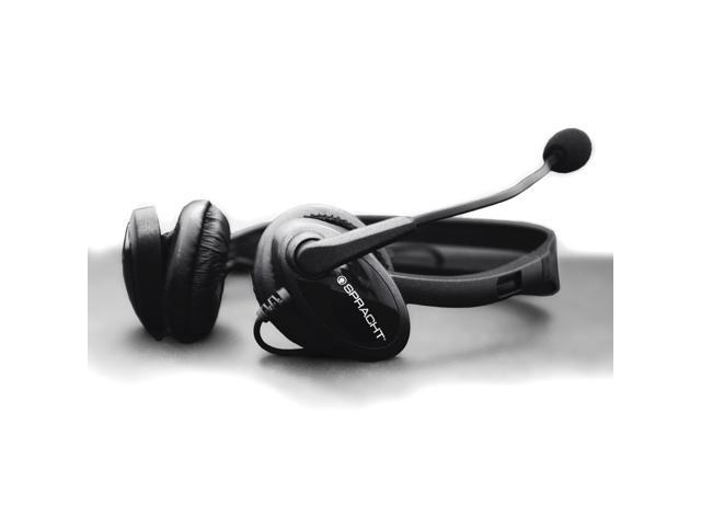 SPRACHT ZuM3500 3.5 mm Headset with USB Dongle for universal compatibility with Tablets, Computers, and Headphone/Headset jacks on Desktop Phones.  Bi-Naural Stereo - Plug and Play