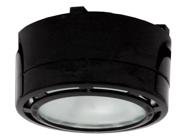 Single 20 Watt Xenon Puck Light with 6-Foot Power Cord 120 Volt Black
