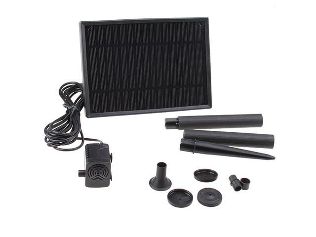 Weanas 8v 2 5w solar powered water pump built in storage for Small pond pump filter combo