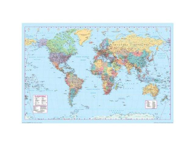 World Map Contemporary View 24x36 Poster