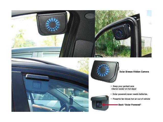car solar breeze fan dvr rechargeable hidden spy camera. Black Bedroom Furniture Sets. Home Design Ideas