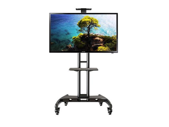 north bayou universal mobile tv cart rolling tv stand with mount ava150060
