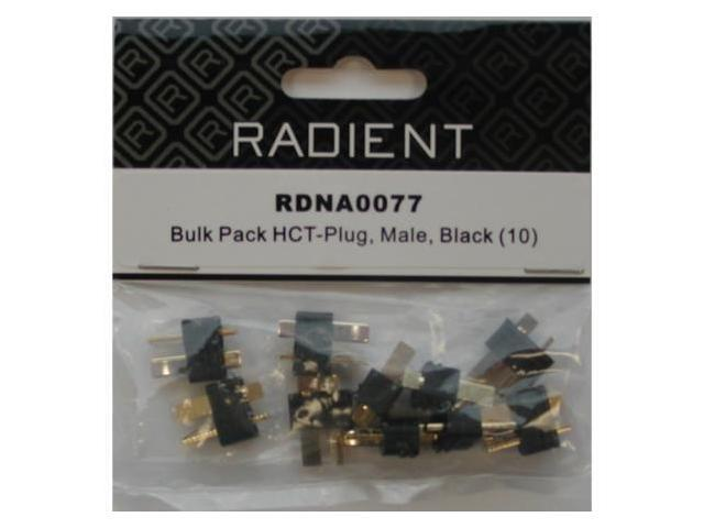 RADIANT   HCT-PLUG MALE BLACK 10 PCS
