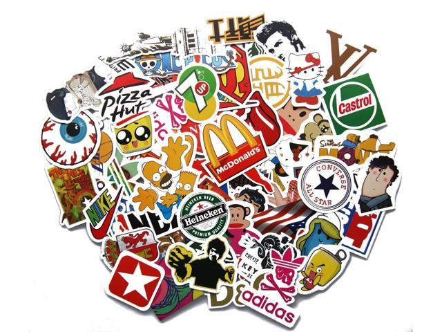 Cool Sticker 400pcs Random Music Film Vinyl Skateboard ...