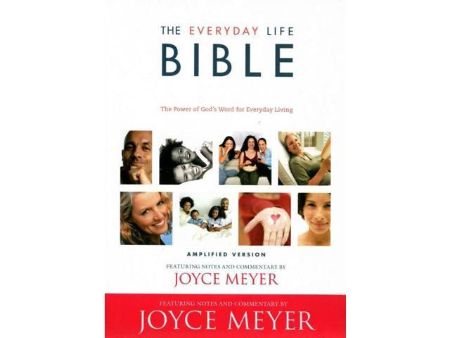 EVERYDAY LIFE AMPLIFIED BIBLE 1st Ed Black Leather - Joyce Meyer - New in Box