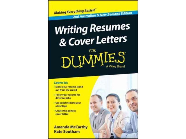 writing resumes cover letters for dummies for dummies 2 mccarthy