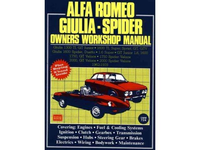 alfa romeo giulia spider owners workshop manual 1962. Black Bedroom Furniture Sets. Home Design Ideas